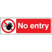 Prohibition safety sign - No Entry 178